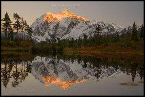Sunset at Mt. Shuksan by Raymaker