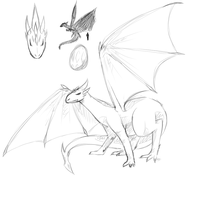 [Quick Sketch] [#1] Dragon by Kimi3999