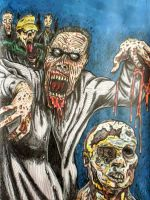 Zombies (color version) by DustyPaintbrush