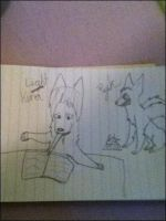 Riito and Ryuk as dogs by RunLikeDaaWind