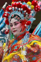 Chinese Girl in Red Head Dress by The-Abstract-Mind