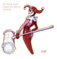 Harley Quinn Quick Sketch by Zubby