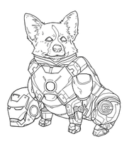 IRON CORGI by b-dangerous