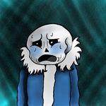 My Drawing Of Sans by dark-wing2