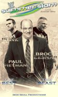 WWE SUMMERSLAM 2013 poster by TheIronSkull