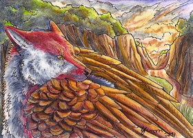 ACEO - Valley of Fire by ShadeofShinon