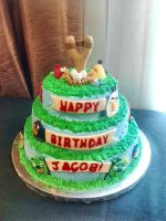 Angry Birds Birthday Cake by Nickofthewolves
