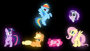 My Little Pony Mane 6 Glow by Ozicks