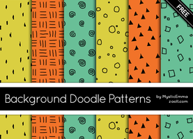 Background Doodle Patterns by MysticEmma