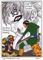 Gaara vs Rock Lee by Jagarnot