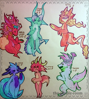 OLD OC POINT ADOPTS! (0/6) CLOSED by The-Purple-Room
