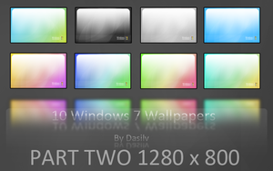 Windows 7 Wallpapers: Two by dasilv