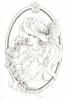 Young hatter (Outline) by Ceresta