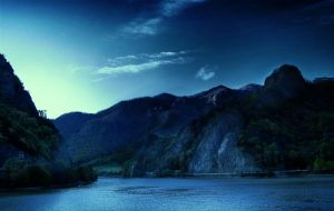 Olt Valley Blue Evening by Callu