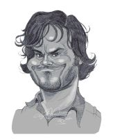Jack Black warmup sketch by LyleDoucetteArt