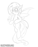 Flutterbat Sketch by drawponies
