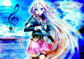 IA - Vocaloid [Flying without Wings] by GomiiWorld