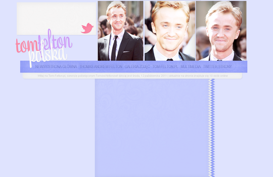 Tom Felton Layout by Imfearless