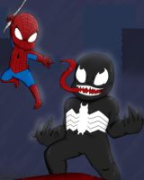 Spiderman vs Venom by CuddlyCapes