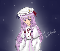 Patchouli Knowledge Fan Art by Elenaititis01