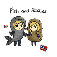 APH: Fish and Potatoes by Azurine550