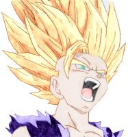 Gohan Super Saiyan 2 by williampudell
