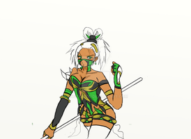My unfinished MK Jade concept by KNGTxRedd