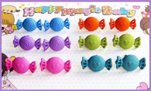 Candy Stud Earrings by cherryboop