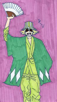 Urahara Kisuke -Coloured- by SonicWings