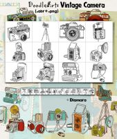 DoodleArt Vintage Camera by Diamara