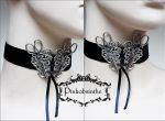 Scissors neck corset by Pinkabsinthe