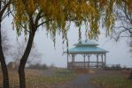 Kiosk in the fog by KameleonKlik