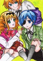Lizzy,Ciel and Jim by Skarlet-Death