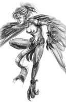 Monstergirl challenge: Harpy by Armadria