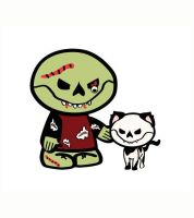 Dead-Ed-zombie-and-kitty by classbrain