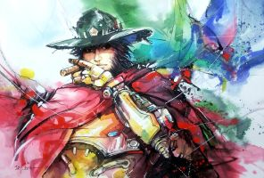 Overwatch - McCree by Abstractmusiq