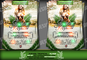 Jueves Tropical Flyer by DeityDesignz