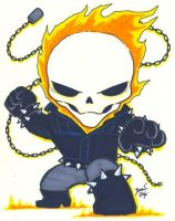 Chibi-Ghost Rider 2. by hedbonstudios
