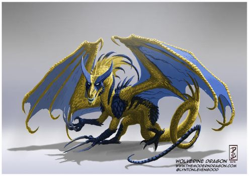 Wolverine Dragon by LyntonLevengood