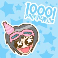 1000 Pageviews by LadyMascara