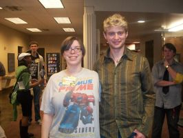 Me and Crispin Freeman by TeslaMarcia