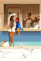 Snack bar de la plage. by PascalCampion