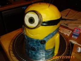 minion cake finished 2 by toastles