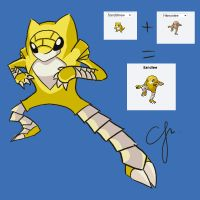 POKEMON FUSION CHALLENGE 2 - SANDLEE! :D by CJMouseWorx