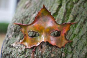 Autumn Maple Leaf Mask by OsborneArts