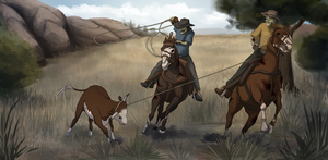 Cowboy Zombies by WithoutName
