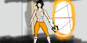 Chell by Rastrelly