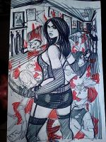 X-23 rough for commission by danablackarts