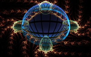 ball with blue windows by Andrea1981G