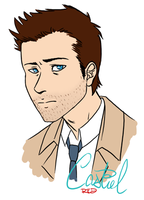Castiel by AnArtistCalledRed
